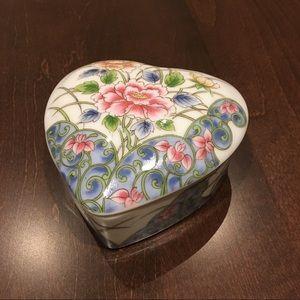 Vintage Heart Shape Ceramic Trinket Made in Japan